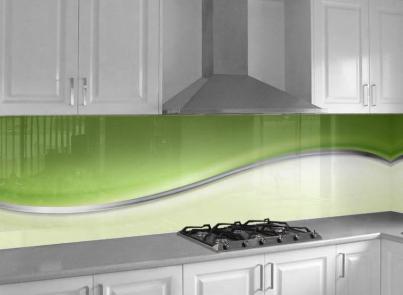 Abstrakte Welle | Glasplatten nach Maß - Küchenrückwandglas ...