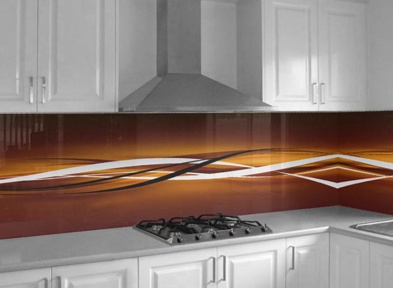 Abstrakte Welle | Glasplatten nach Maß - Küchenrückwandglas nach Maß ...