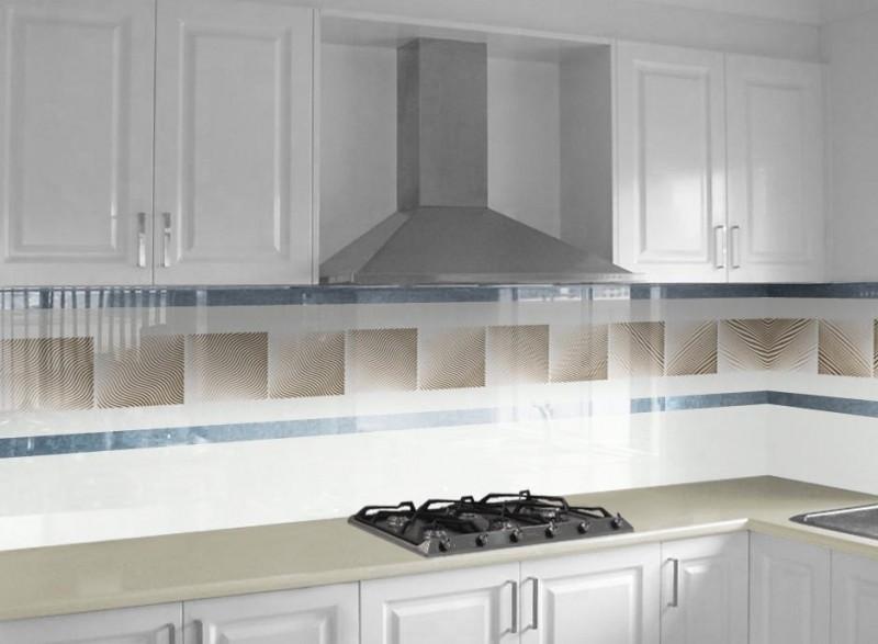 Küchenrückwand Glas mit Befestigungsbohrungen nach Maß 4mm ESG Spritzschutz